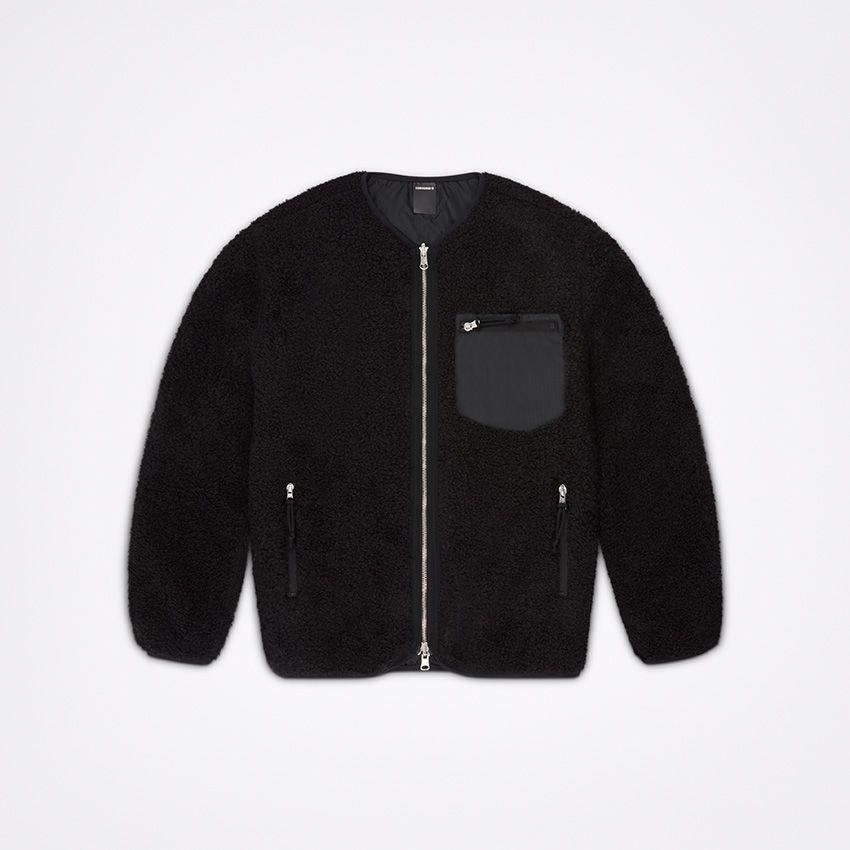 Men's Utility Reversible Sherpa Jacket in Converse Black ...